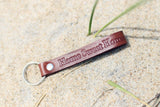 Keychain Leather Personalized, Realtors closing gift, home sweet home