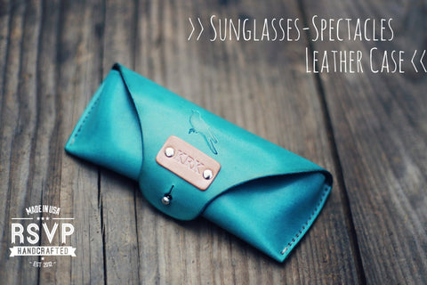 Custom Sunglasses Leather Case, Bird