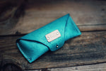 Leather Glasses Case, Roses pattern