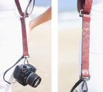 Custom Dual Camera Harness Strap, Roses pattern