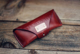 Leather Glasses Case, Tribal