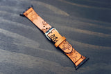 Leather Apple Watch band single tour, Honey Bee