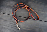 Braided Leather Dog leash, 5/8 inch Wide