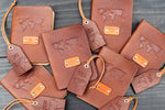 Leather Passport Cover and a Luggage Tag set