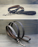 Braided Leather Dog leash, 3/4 inch