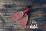 Mr & Mrs. Custom Leather Luggage Tags, His and Hers