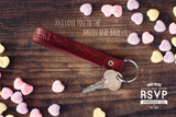 Personalized Keychain Leather, valentines day