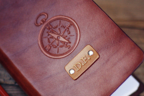 Custom Leather Journal, Compass