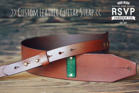 Custom Leather Guitar Strap