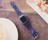 Leather Apple Watch band single tour, Nautical Anchor