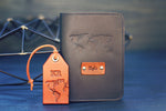 Leather Passport Cover and a Luggage Tag set, World Map