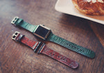 Leather Apple Watch band single tour, Palm leaves