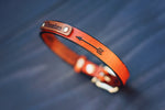"Personalized Leather Dog Collar, 5/8"" Arrow"