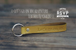 Personalized Leather Quote Keychain