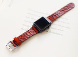 Apple watch leather band, Animal print, Leopard