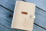A5 Large Leather Organizer Agenda, Notebook, Diary, Journal, planner