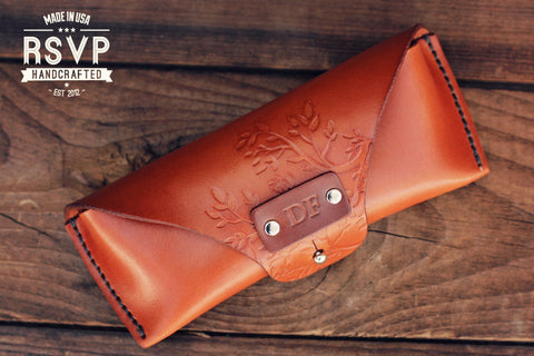 Custom Sunglasses Leather Case, Branches
