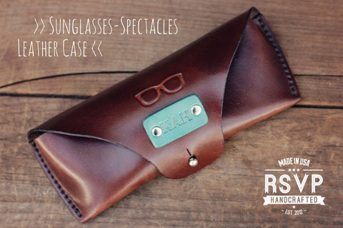 Custom Sunglasses Leather Case, Glasses