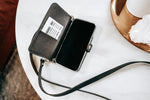 iPhone leather Wallet, Crossbody Purse Strap