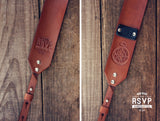 Custom Leather Camera Strap, Compass