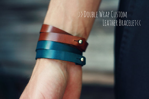 2 Matching Bracelets, Leather Cuff, Couple Bracelet, Double Wrap, His Her Bracelets, Best Friend bracelet, Personalized, Arrow, Anniversary