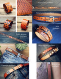 Personalized Leather Dog Collar, Woodgrain pattern