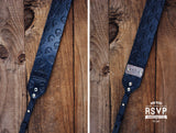 Custom Leather Camera Strap, Skull Pattern