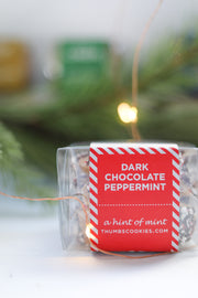 TO-GO TRIO: DARK CHOCOLATE PEPPERMINT COOKIE BARK