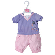 "Petite Dolls Clothes 16""-18"" lilac trouser set - Kiddymania Rag Dolls"