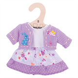 Lilac Doll Dress - Large for for 38cm Doll