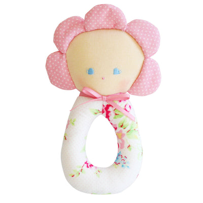 Flower Grab Rattle - Kiddymania Rag Dolls
