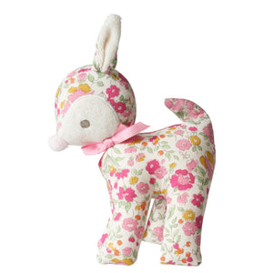 Baby Deer Rattle Rose Garden - 16cm - Kiddymania Rag Dolls