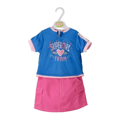 "Petite Dolls clothes 18""-20"" Supergirl skirt/top - Kiddymania"