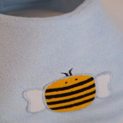 Beauty and the Bib Bandana Bib - Bee on blue - Kiddymania