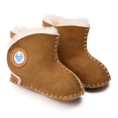 Cwtch Sheepskin Bootees Tan - Kiddymania Rag Dolls