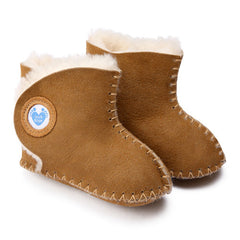 Cwtch Sheepskin Bootees Tan - Kiddymania