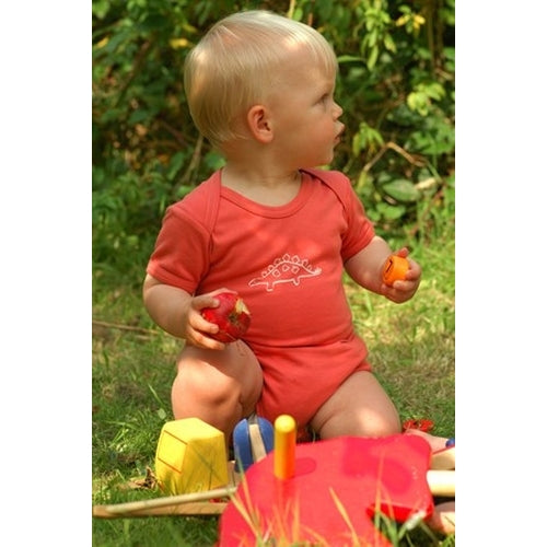 Frugi Organic Dino theme body - 3 pack-