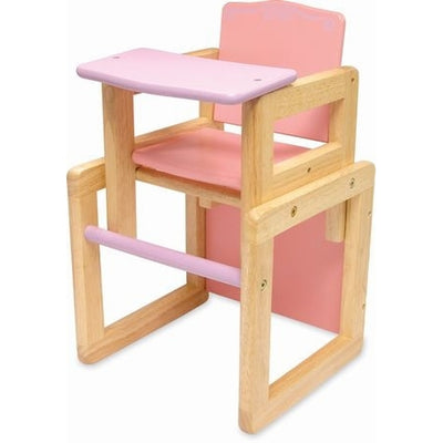 Dolls Wooden High Chair - Kiddymania Rag Dolls
