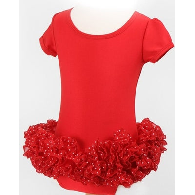 Frilly Lily Red Dotty Girls Ballet Tutu - Kiddymania Rag Dolls