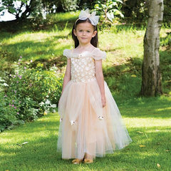 Golden Princess Bridesmaid Dress