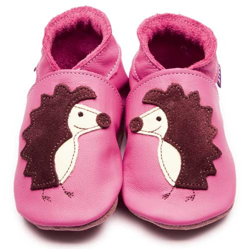 Inch Blue Baby shoes - Hedgehog Pink