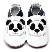 Inch Blue White Panda Leather Baby Shoes - Kiddymania Rag Dolls