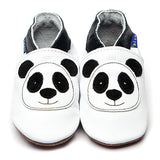 Inch Blue White Panda Leather Baby Shoes