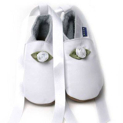 Inch Blue Baby shoes - White Ballet shoes - Kiddymania