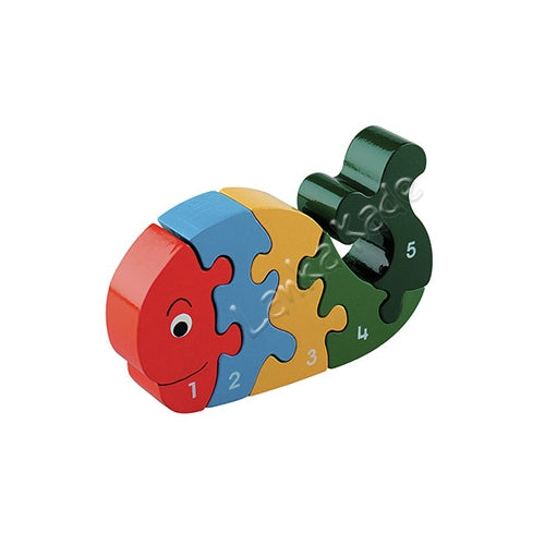 Lanka Kade Fair Trade Wooden 1-5 Whale Jigsaw