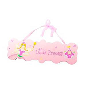 Wooden Little Princess Plaque - Kiddymania Rag Dolls
