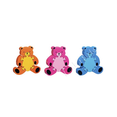 Lanka Kade Fair Trade Wooden Teddy Jigsaw - Kiddymania Rag Dolls