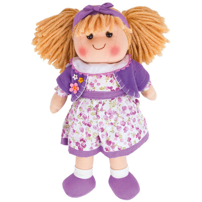 Bigjigs Traditional rag doll Laura 34 cm