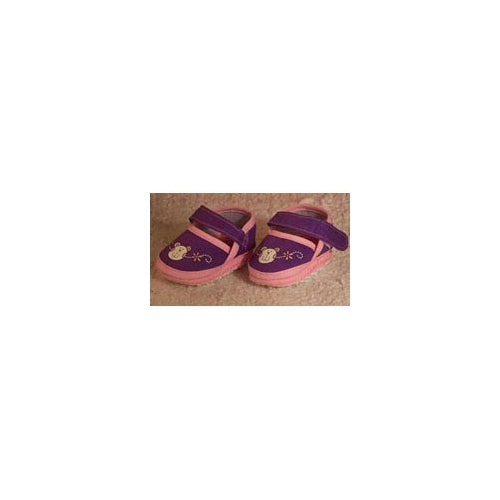 Petite Dolls Clothes Soft Shoes Purple