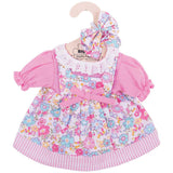 Pink Floral Rag Doll Dress 34 cm